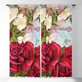 Vintage Roses Floral Gems 1897 Blackout Curtain