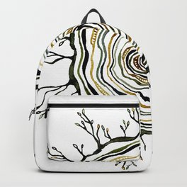 Watercolor Tree Ring Roots Backpack