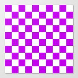 Cheerful Purple Checkerboard Pattern Canvas Print