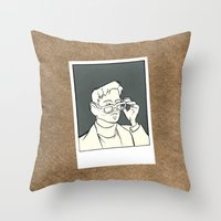 iron giant Throw Pillows featuring The Iron Giant - Dean McCoppin by Petia Koteva