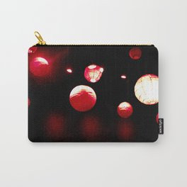 Crimson Orbs Carry-All Pouch