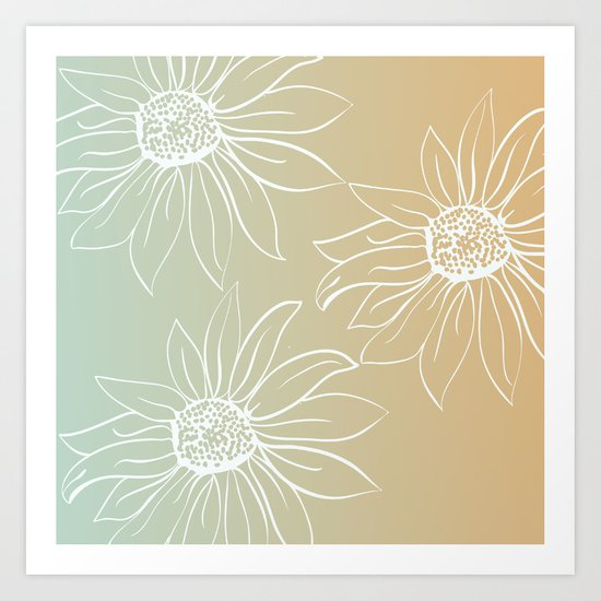 Pretty Daisies Art Print