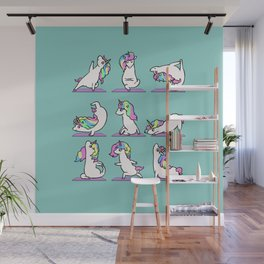 Unicorn Yoga Wall Mural
