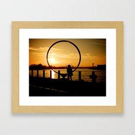 The Girl in a Ring Framed Art Print