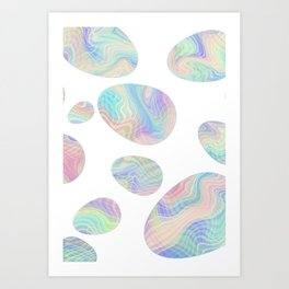 MAGZ Art Marbled Eggs Art Print