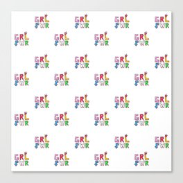 GRL PWR pattern Canvas Print