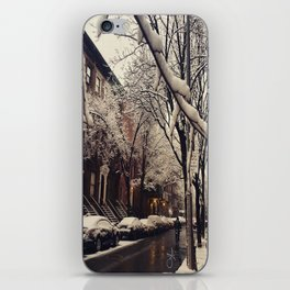Photo of the beautiful Brooklyn Heights covered in icy snow iPhone Skin