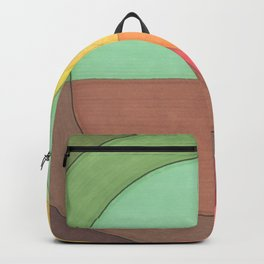 Concentric Circles Forming Equal Areas Backpack