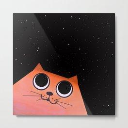 cat and stars Metal Print