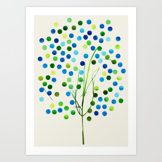 Tree of Life_Aqua by Jacqueline and Garima Art Print