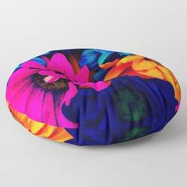 Neon Daisies Floor Pillow
