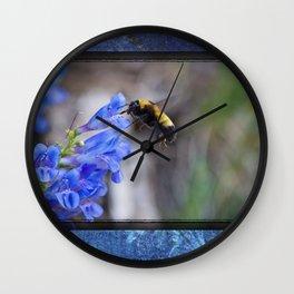 Rustic Bumble Blue Wall Clock