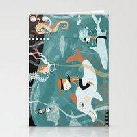 underwater Stationery Cards featuring underwater by Orit Bergman