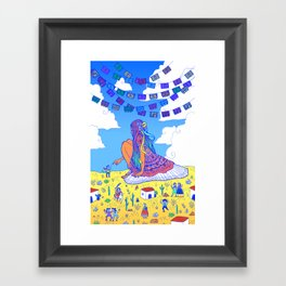 Adelita Y El Pueblo de Calaveras Framed Art Print