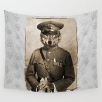 general Wall Tapestries featuring The general by Seamless