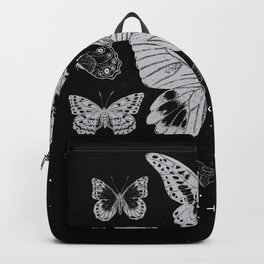 Vintage Butterflies in black and white - Retro Butterflies Backpack