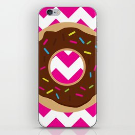 Donut on Pink & White iPhone Skin