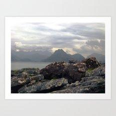 cuillin hills from elgol. Art Print