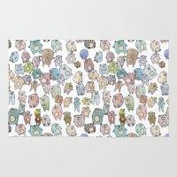 bears Area & Throw Rugs featuring Bears by Hannah Drossman