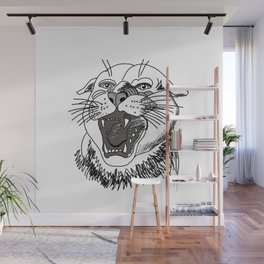 tiger angry growls ( https://society6.com/vickonskey/collection ) . Art Wall Mural