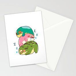 Toad frog Lurch lazy tired sleep gift Stationery Cards