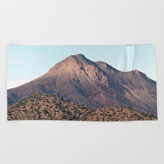 the mountain layer Beach Towel