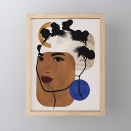 Afro Hair Style - Bantu Knots Framed Mini Art Print