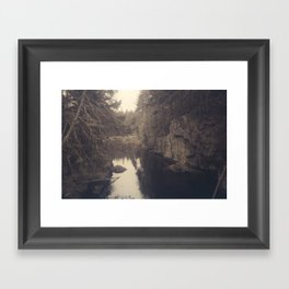 Beyond the ridge Framed Art Print