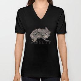 Funny wombat animal quote Wom Butt Unisex V-Neck