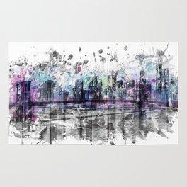 Modern Art NEW YORK CITY Skyline | Splashes Rug