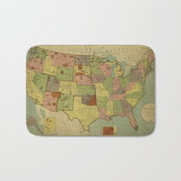 Map of Indian Reservations 1902 Bath Mat