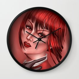 Madame in Red Wall Clock