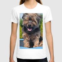yorkie T-shirts featuring Yorkie by Sammycrafts