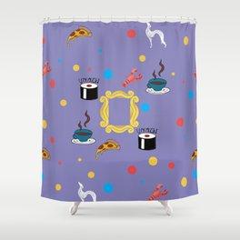 Friends doodling Shower Curtain