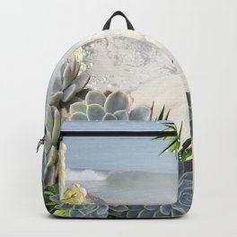Succulent Hues of Pale Blues Backpack