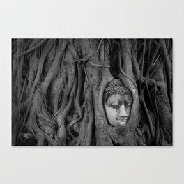 Head at Wat Mahathat Canvas Print