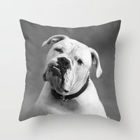 allyson johnson Throw Pillows featuring Johnson by Nicole Mlakar