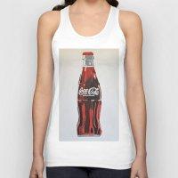 coca cola Tank Tops featuring Coca-Cola by Marta Barguno Krieg