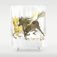 horses Shower Curtains featuring Horses by JoJo Seames