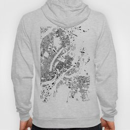 Copenhagen Map Schwarzplan Only Buildings Hoody