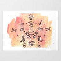 budi satria kwan Art Prints featuring Satria Manah Batik by Lalitia A. Rakhmanda