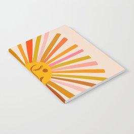 Sunshine – Retro Ochre Palette Notebook