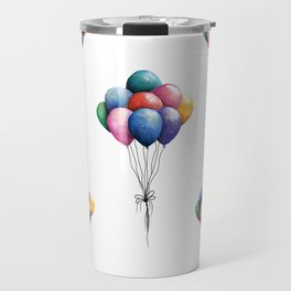 Balloons Watercolor Art illustration Travel Mug