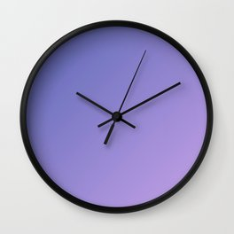 Purple and Light Violet Gradient Wall Clock