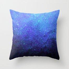 Blue Heavens: Vibrant Starfield Throw Pillow