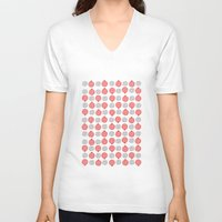 pomegranate V-neck T-shirts featuring Pomegranate by curious creatures
