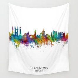 St Andrews Scotland Skyline Wall Tapestry