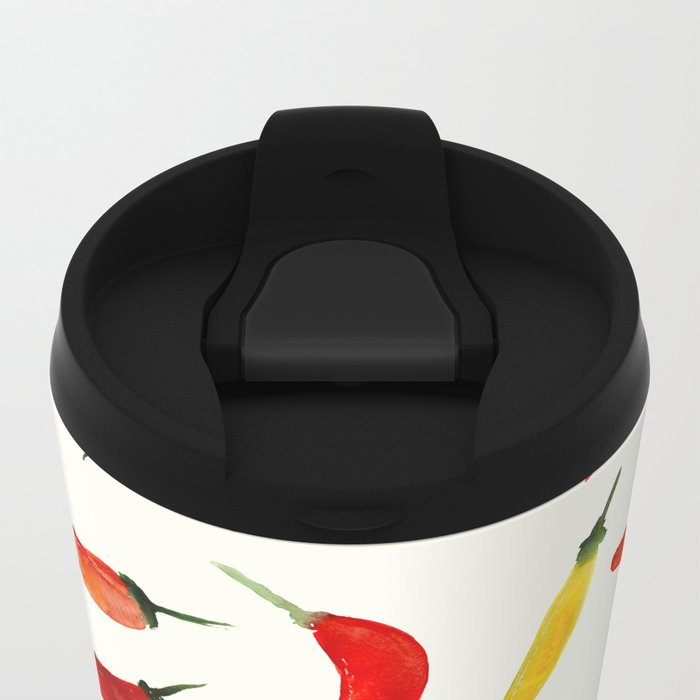 Hot chili peppers Metal Travel Mug