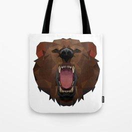 Bear   Polygon Triangle Abstract Artwork Tote Bag