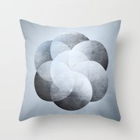 sacred geometry Throw Pillows featuring Sacred Geometry One by Richard Seyb